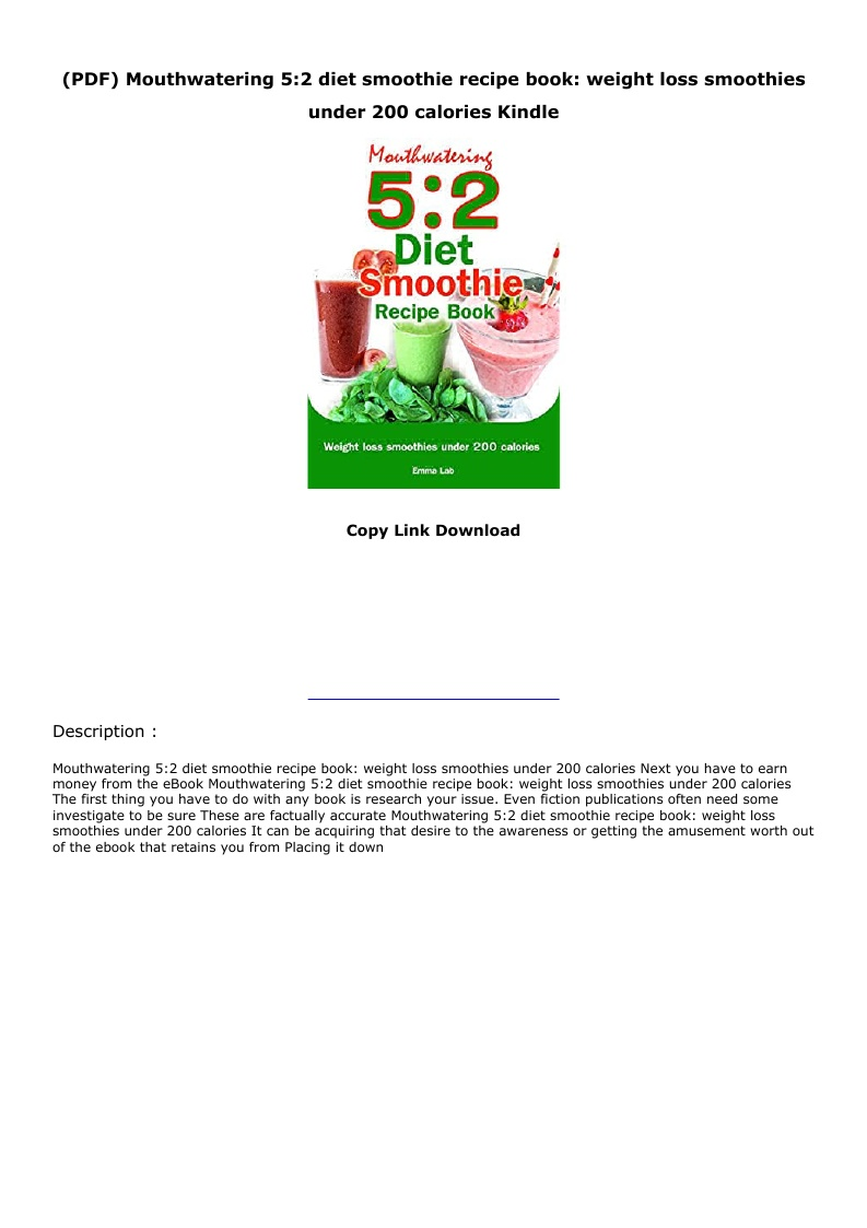 Pdf Mouthwatering 5 2 Diet Smoothie Recipe Book Weight Loss Smoothies Under 200 Calories Kindle Text Images Music Video Glogster Edu Interactive Multimedia Posters
